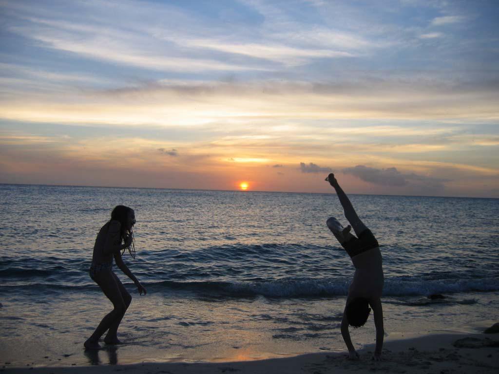 Curacao island sunset weather
